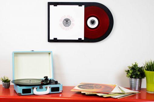 12 inch LP lijst eik