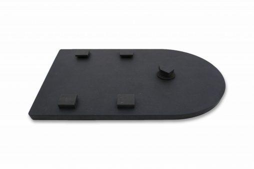 7 inch LP lijst all black